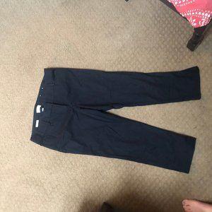 LOFT Black Ankle Crop Pants